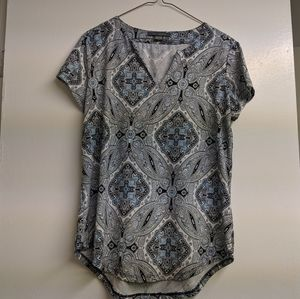 Paisley top from Suzy Shier